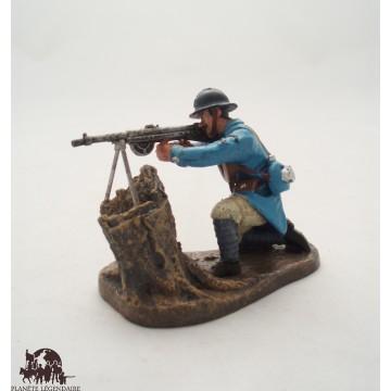 Figurine Atlas Tireur au fusil mitrailleur Chauchat 1918