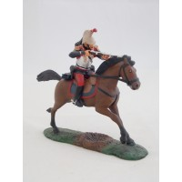 Figurine Atlas officer of cuirassiers horseback 1914