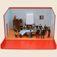 Diorama La Ferme du Caillou Dernier QG Napoléon Waterloo CBG Mignot
