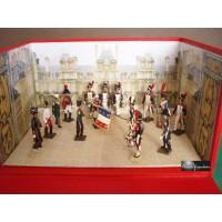 Diorama Les Adieux de Fontainebleau de Napoléon 1er CBG Mignot