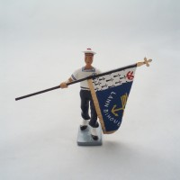 CBG Mignot Bagad Lann Bihoue Flagge Träger Figur