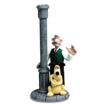 Démons et Merveilles Wallace y Gromit estatuilla de sostenedor de vela