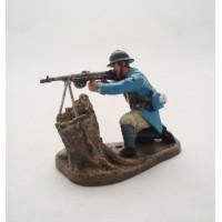 Figur Atlas Shooter mit Maschinengewehr Chauchat 1918