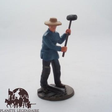 Figurine Del Prado Travailleur des Chemins de Fer