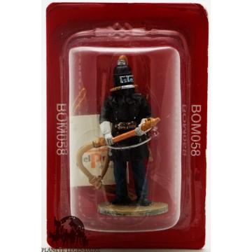 Figurina di pompiere del Prado con casco respiratoria Berlin 1900