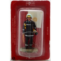 Del Prado firefighter fire London UK outfit figurine. 1985