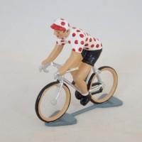 Figurine CBG Mignot Cycliste Maillot à pois Tour de France