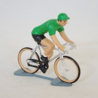 CBG Mignot cyclist Tour de France green Jersey figurine