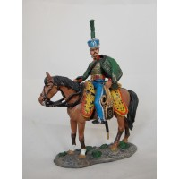 Figurine di volontari sassoni portatore Hussar 1813 del Prado
