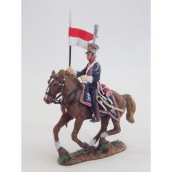 Figurine Del Prado Cavalier léger Lancier Garde Impériale Pologne 1813