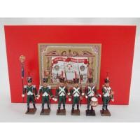 Coffret Luxe 6 Figurines CBG Mignot Régiment de la Tour d'Auvergne