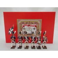 Coffret Luxe 6 Figurines CBG Mignot Grenadier de la Garde Française de Louis XVI