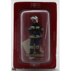Del Prado firefighter outfit fire Warsaw Poland 2003 figurine