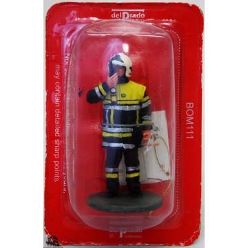 Figurina Del Prado pompiere vestito alta visibilità 2005
