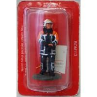 Del Prado firefighter outfit fire Belgium 2003 figurine