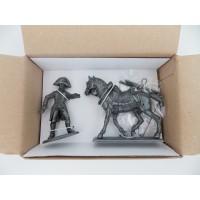 Stamp N ° 17-foot MHSP Atlas horse Cavalry + drum gunner