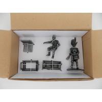 Figurine MHSP Atlas Napoléon + Chaise et Table + Servant d'Artillerie