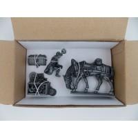 Estatuilla MHSP Atlas Laquait + enganche caballo + timón N ° 05