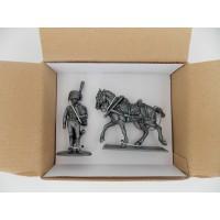 Figurine MHSP Atlas Lieutenant Chasseur de la Garde + Cheval Attelage