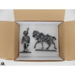 Figurine MHSP Atlas Lieutenant Chasseur de la Garde + Cheval Attelage N°24