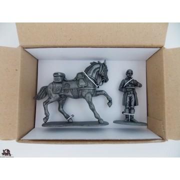 Figurine MHSP Atlas horse Cavalry + Footman of the Emperor N ° 11