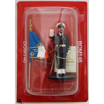 Figurine di marinaio del Prado pompiere porta bandiera Marsiglia Francia 2011