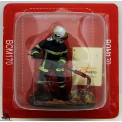 Figurina di vigile del fuoco del Prado Sapper tenuto fuoco Francia 2012