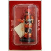 Figurine Del Prado Sapeur Pompier Formateur aux phénomènes thermiques France 2011