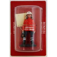 Figure Del Prado Firefighter Sapper Fire Outfit Paris 1982