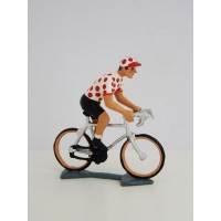 Figurine CBG Mignot Cycliste du Tour de France Maillot à Pois en danseuse